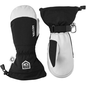 Hestra Army Leather Heli Ski Guanti, nero/bianco